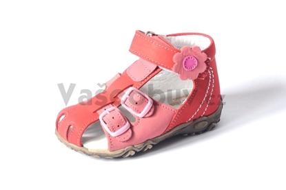 Obrázek Sázavan dětské sandálky červené