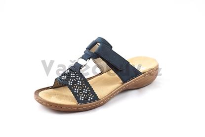 Obrázek Rieker 60871-14 blu dámské pantofle