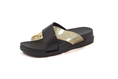Obrázek Coqui Nela black/gold pantofle